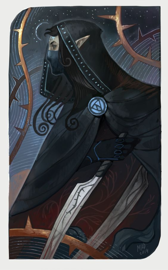 My character (not Inquisitor) in DA universe. Ace of Swords, Nuar.