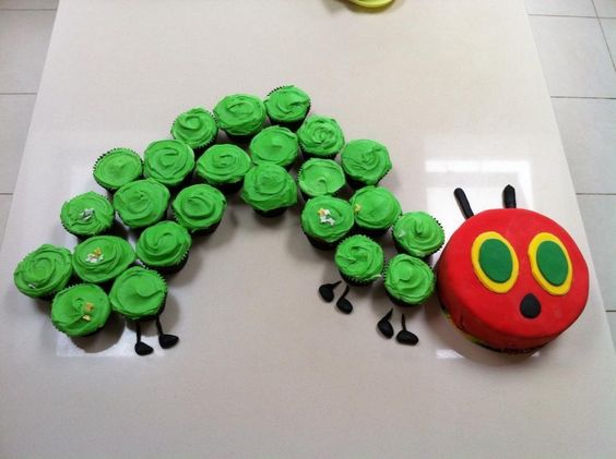 Hungry Caterpillar Cupcake Cake!