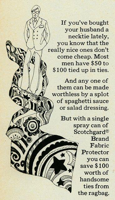 Psychedelic Scotchgard Tie, 1970 by MewDeep, via Flickr