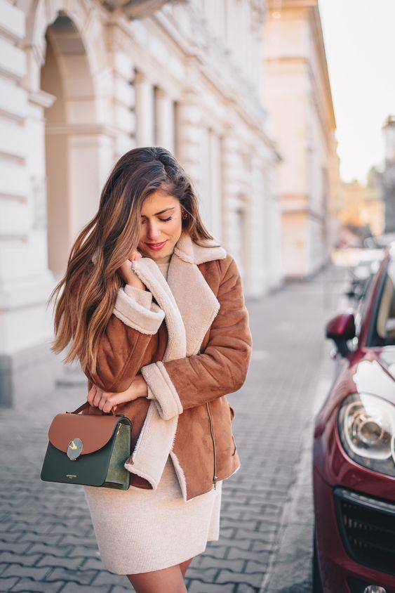 Cosy winter style. Bag by Le Parmentier Paris & Forzieri