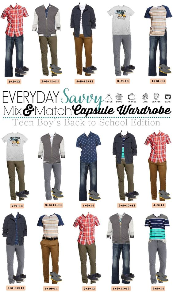 We know that buying boys teenage back to school outfits can be tough. This list makes back to school shopping easy. We put together 15 mix and match outfits for school including shoes! Everything is from Target and you can buy all 14 items including shoes for a great price.