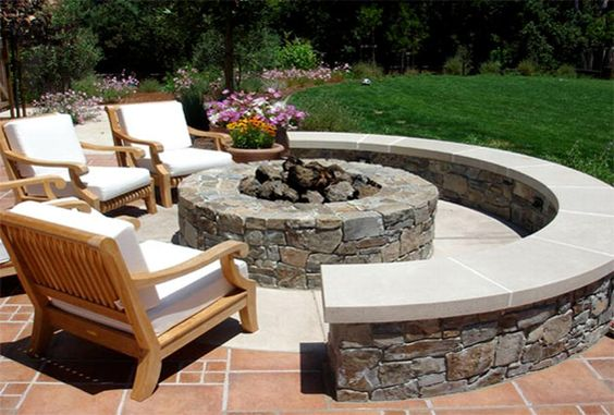 Fire Pit - think my backyard is big enough? Love it!