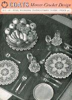 Coats 538 - crochet doilies - vintage crochet pattern