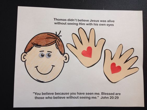 Doubting Thomas Craft Sunday School Lessons Sunday School