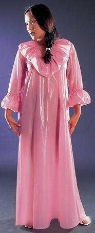 Atelier Kunzmann - ERNA - Langes Nachtkleid mit breiten Volants.