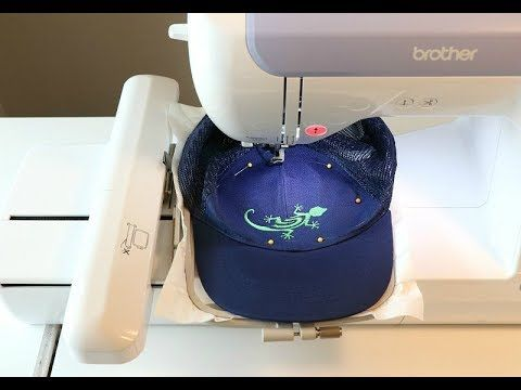 How To Machine Embroider A Hat Youtube Embroidering Machine Hat Embroidery Machine Embroidery