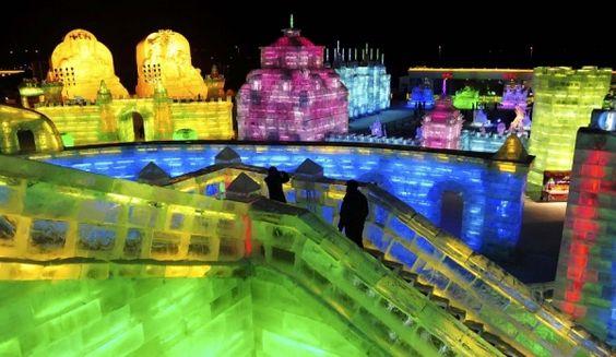 Фестиваль льда и снега в Харбине (Китай)