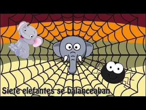 """""""Un elefante se balanceaba"""" - Canciones infantiles para niños en Español…"""