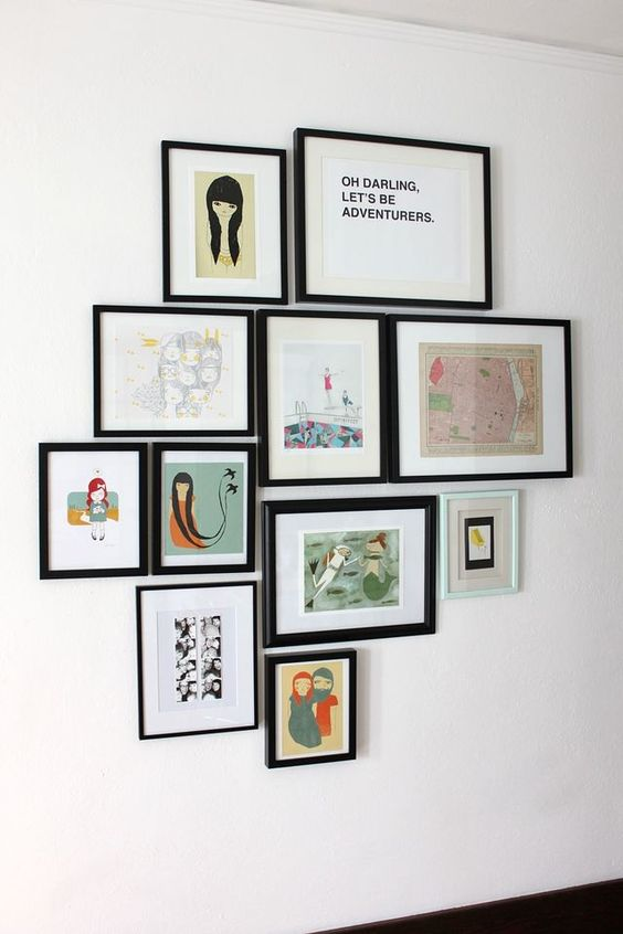 some rules and hints for hanging art groupings on the wall rowenamurillo