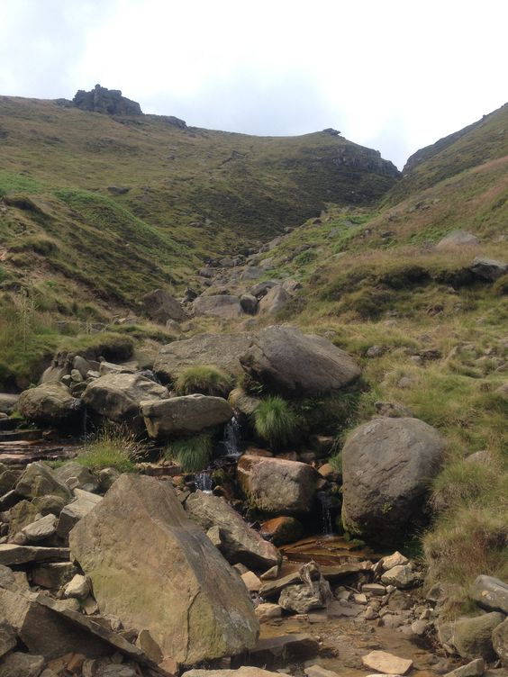 The way up: Crowden Brook, Kinder Scout, Peak District, England