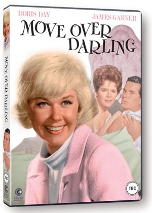 """Released 12/25/63.  """"Move Over Darling"""" starring Doris Day, James Garner, and Polly Bergen"""