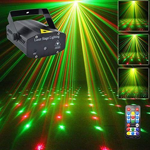 Amazon Com Solar Garden Laser Light Mini Portable Ir Remote Rg Meteor Laser Projector Lights Dj Ktv Home Led Stage Lights Disco Party Lights Stage Lighting