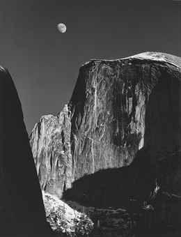 Moon and Half Dome, Yosemite National Park, 1960   Ansel Adams