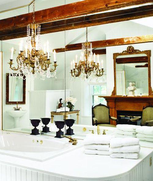 Canadian House & Home: Bathroom Design, Powder Room, Bathroom Interior Design, Bathrooms House, Interior Design Bathroom, Bathroom Mirror, White Bathroom, Dream Bathroom