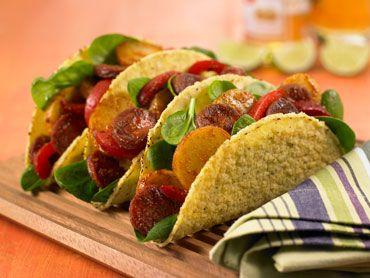 Recette Tacos au chorizo Old El Paso™