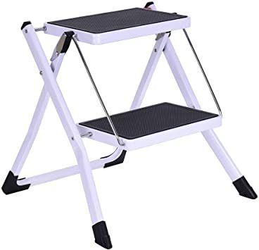 Zipsak 2 Folding Step Stool Lightweight Step Ladder Sturdy And Wide Pedal Ladder Mini Stool In 2020 Folding Step Stool Steel Stool Step Ladders