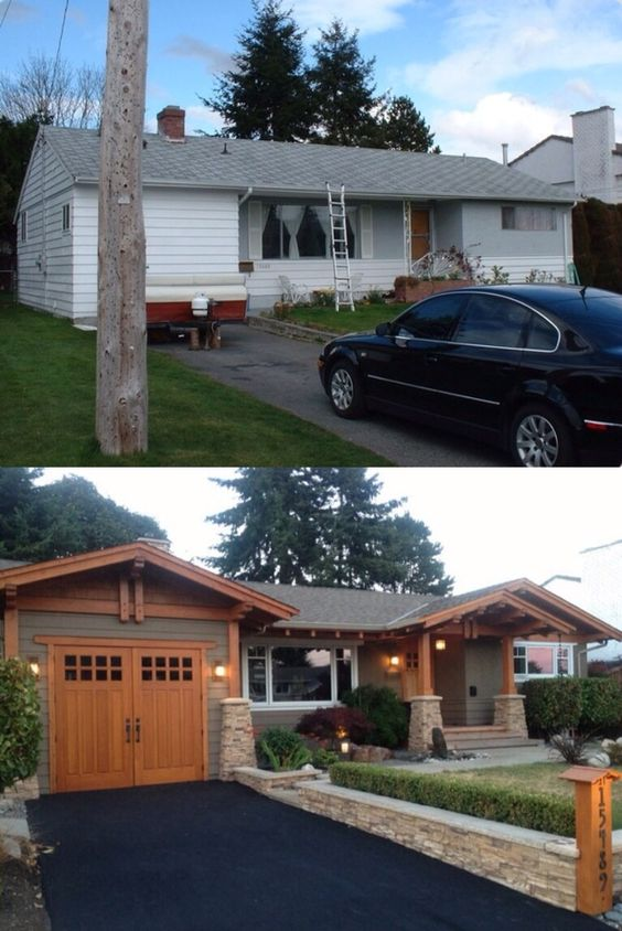20 Home Exterior Makeover Before and After Ideas | Exterior ...