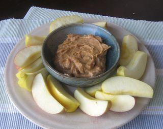 Peanut Butter Yogurt Dip - serve with apples