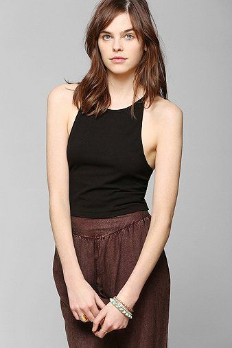 Truly Madly Deeply Cross-Back Halter Tank Top