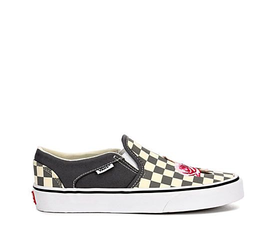 Black \u0026 White Women's Vans Asher Slip