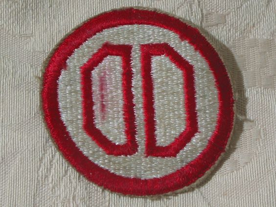 "MILITARY SHOULDER PATCH 31th Infantry "" Dixie"" Division Red White Korean War  Junk_573  http://ajunkeeshoppe.blogspot.com/"
