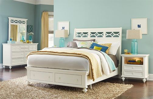 American Drew Lynn Haven Collection Sleigh Bed With