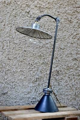French Machine Age Industrial Factory Desk Lamp   eBay