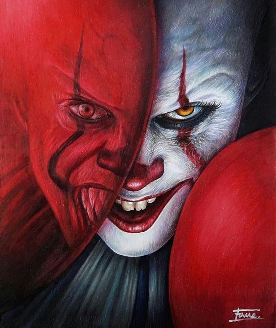 Film Pagliaccio 2020.It Pennywise 2017 Head Knocker Bobble Head In 2020 Horror Artwork Horror Art Pennywise Painting