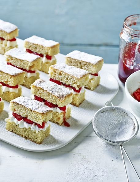 A twist on the classic Victoria sandwich, these slices look adorable and are, of course, divine to eat!