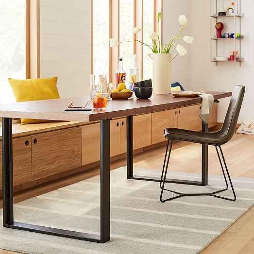 Avery Industrial Dining Table In 2020 Industrial Dining Table Industrial Dining Reclaimed Wood Dining Table
