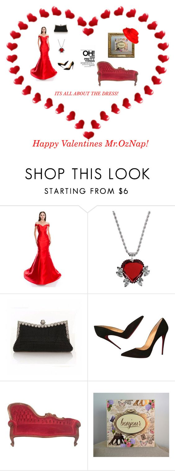 """""""Its all about the Dress"""" by peoniesarebeautiful ❤ liked on Polyvore featuring Pinko, Christian Louboutin and etsyfru"""