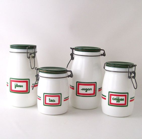 vintage kitchen canisters sets vintage kitchen canister set milk glass milkglass coffee 22587