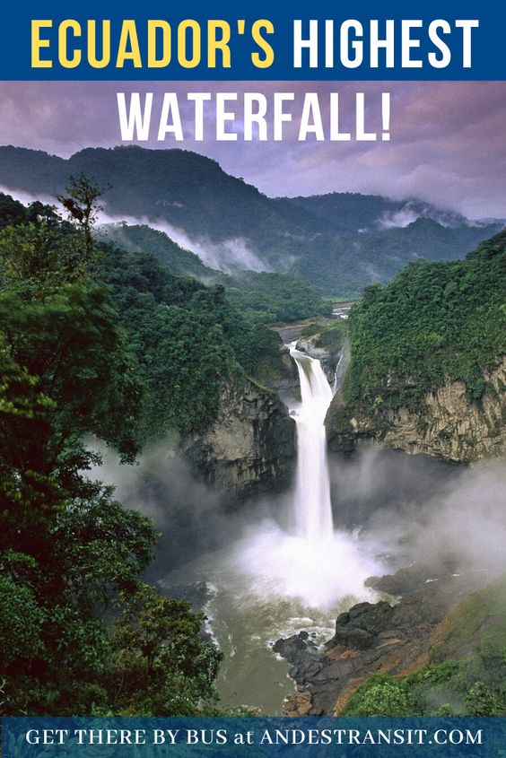 Discovering San Rafael Waterfall in Ecuador with AndesTransit (Pinterest)