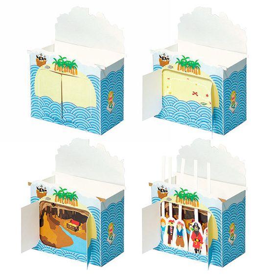 Pirates Paper Theater DIY Craft Kit Puppet Theater door pukaca