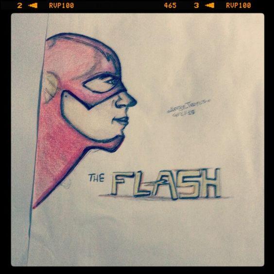 Grant Gustin The Flash #drawing #illustration #actor #tvseries #grantgustin #theflash