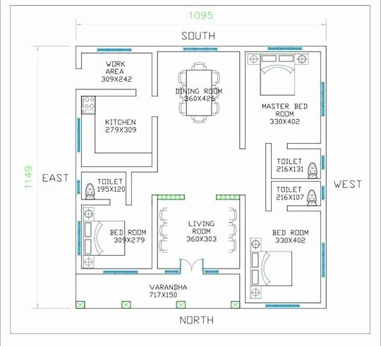 Small Three Bedroom House Plans Luxury 3 Bedroom Low Cost Single Floor Home Design With Free Plan In 2020 Low Cost House Plans Square House Plans Kerala House Design