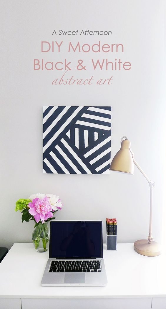 DIY Modern Black and White Art - 17 Awe-inspiring DIY Wall Art Ideas That Will Elevate Your Home Decor