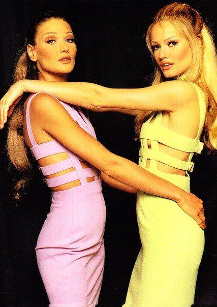 Carla Bruni and Karen Mulder