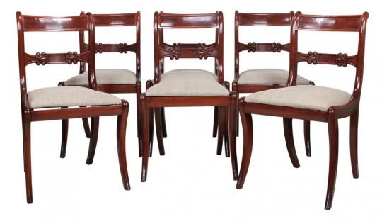 Set of 6 Regency Mahogany Dining Chairs | Looking For Antiques