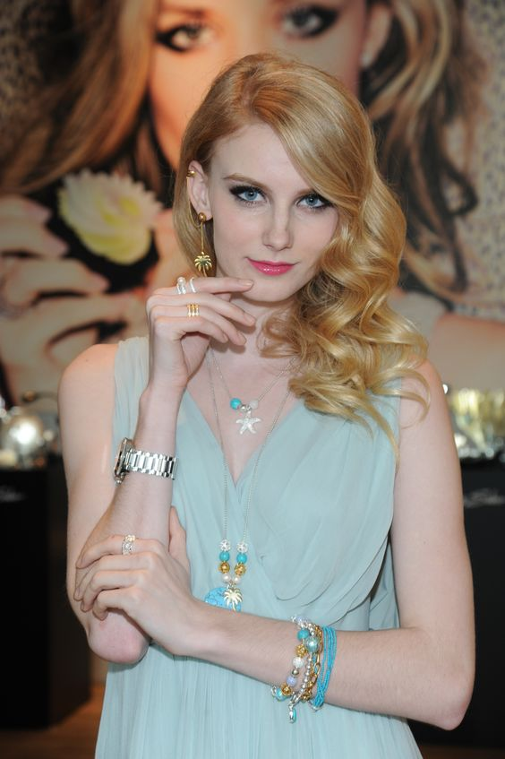 Model wearing items from the new Karma Beads collection.