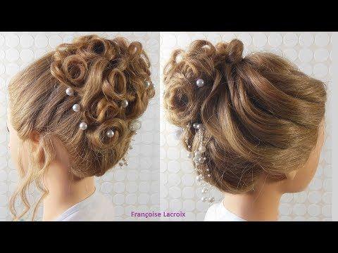 Tuto Coiffure Chignon Boucle Mariage Wedding Hair Bun Recogido Con Bucles Para Novias Youtube Chignon Boucle Chignon Boucle Mariage Chignon Haut Mariage