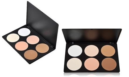 """Brush, Highlighter, and Bronzer Palette (6 Shades)  Brush, Highlighter, and Bronzer Palette (6 Shades)  Was $49.97 Now: $17.99  64% Discount   View Offer Brush, Highlighter, and Bronzer Palette  Set of six shades (2.44"""" diameter, each) Benefits: these matte shades can help conceal, contour, and add a lively glow to the skin How to use them: apply dark colors in the hollows of your cheeks and around the hairline, place blush on the apples of your cheeks, and use highlighter on the cheekb"""