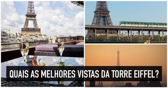 Lugares para ver a Torre Eiffel em Paris