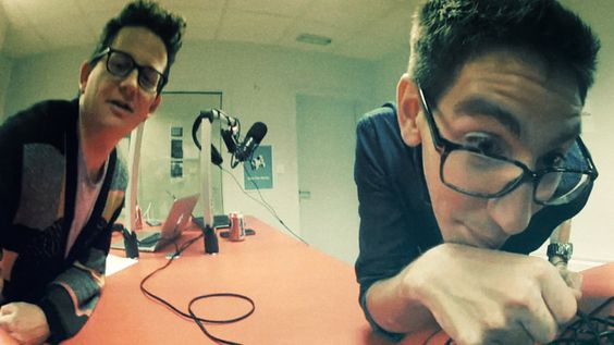 Fredo De Smet en Bas Baccarne in de REC opnamestudio