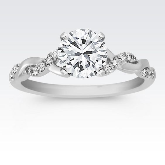 Engagement Rings Silver Engagement Rings Infinity Engagement Rings