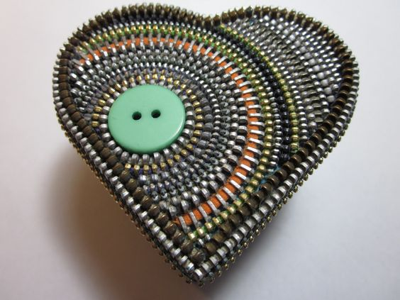 Zipper Heart Box. via Etsy.