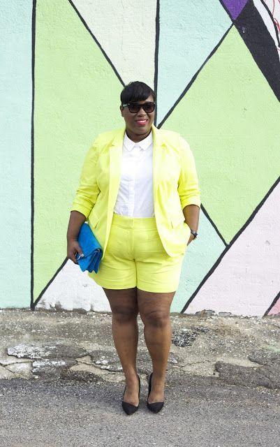 Plus Size Fashion - The Je ne sais quoi: Yellow Short Suit...