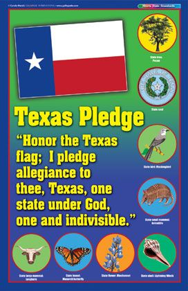 Printable Texas Pledge First Grade | Texas Pledge Poster ...