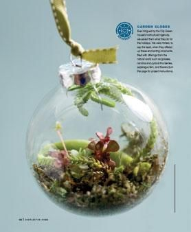 Clear Christmas bauble garden globe