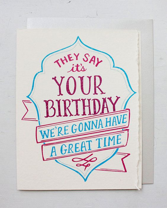 Cute Happy Birthday, Vintage Typography And Love Songs On